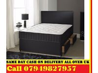 king size Divan Bed With Semi Ortho Mattress . Single, Small Double , kingsize /Bedding