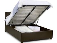 Double ottoman storage bed