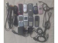 9 MOBILE PHONE PHONES BUNDLE RETRO SAMSUNG NOKIA LG SAGEM MOTOROLA SAGEM SPARES REPAIR