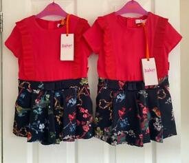 2 NEW WITH TAG TED BAKER girl playsuit 18-24 months (twins matching)