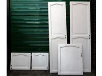 Hardwood painted fitted wardrobe doors
