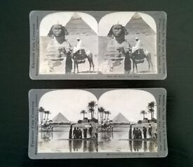 two stereoscopic's of egypt ( circa 1900s )