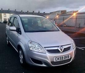 2009 Vauxhall zafira Exclusive 1.6 petrol Family 7 Seater Full mot low Genuine mileage Bargain price