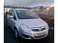 2009 Vauxhall zafira Exclusive 1.6 petrol Family 7 Seater Full mot low Genuine mileage Bargain price