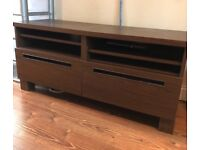 Dark brown ikea TV cabinet / sideboard