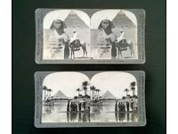 stereoscopic photograph ' chinatown ' san francisco ( 1892 ) + two stereoscopic's of egypt ( 1900s )