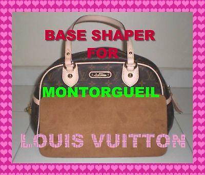 Brown Microfiber Base Shaper Liner that fit the Louis Vuitton Montorgueil PM