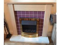 Electric fire, fireplace & hearth