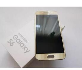Samsung galaxy S6 Gold 32GB Unlocked As new condition