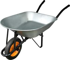 Brand New 5-ft³ Steel Wheelbarrow Pneumatic Tire