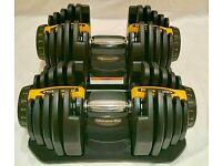 Adjustable dumbbells weights 40kg per dumbbell selectable 5kg to 40kg not Bowflex