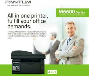 Pantum M6600NW Wireless All-in-One Monochrome Laser Multifunction Printer with Fax - Print - Copy - Scan - M6600NW