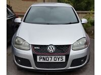 Volkswagen Golf 2.0 TFSI GTI. Silver. 5 door. Fresh MOT. Good mileage.