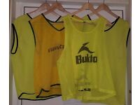 9 x USED Mens Yellow Mesh Sports Training Bibs for Football, Rugby, Basketball | Yellow Adult