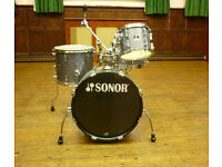 Sonor Player 4-piece Kit in Black Sparkle