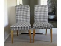 Two Henriksdal chairs with brand new covers