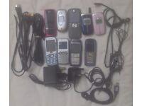 9 MOBILE PHONE PHONES BUNDLE RETRO SAMSUNG NOKIA LG SAGEM MOTOROLA NOT IPHONE SPARES REPAIR
