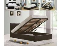 🟡💛Leather Ottoman Storage Bed Frame in Black White and Brown Color Option 🟡💛