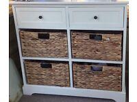 Storage Units with wicker baskets