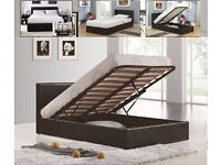 KING SIZE LEATHER BED IN BLACK BROWN WHITE COLOURS SUPERB AVAILABLE SINGLE BED DOUBLE BED