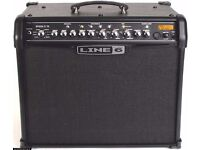 Line 6 Spider IV 75 75W 1x 12-inch guitar modelling combo and original Line 6 cover