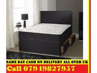 King Size Divan Base On Its Own Or With Mattress Both Available YARS