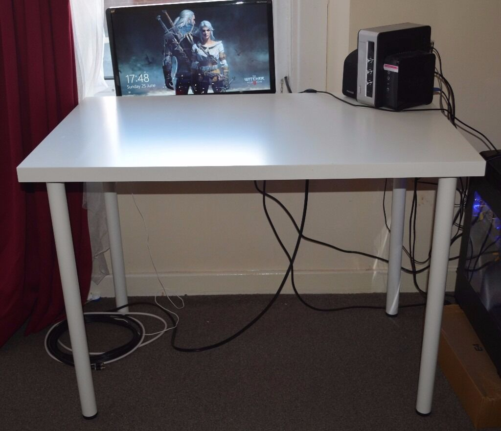 ikea adils linnmon 100x60cm table sold in newcastle tyne and wear gumtree. Black Bedroom Furniture Sets. Home Design Ideas