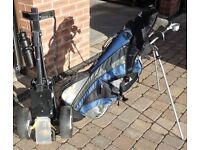 Golf Clubs with bag & trolley