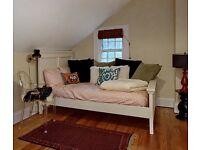 Pottery Barn Twin/Full Sized headboard, footboard and mattress