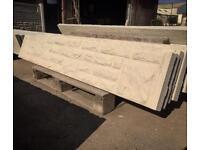 Rock face concrete gravel boards / plinths / kickboards