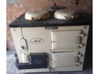 Original AGA cooker with oven & heat storage stove
