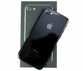 Apple IPHONE 7 Plus SIM O2 (256GB, JET BLACK) NEW MODEL 2016 UK Brand new