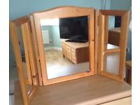 Pine Dressing Table Mirror....Folds up