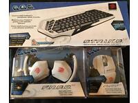 Mad Catz full Wireless kit, Headphones, Mouse + Keyboard; PC, TV, Mac ,Mobile+Gaming. New in Box