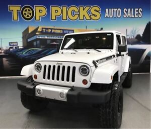 2013 Jeep WRANGLER UNLIMITED LIFT KIT, HARD TOP, AFTERMARKET WHE