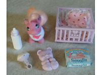 Vintage My Little Pony G1 Baby Accessories Lot 3