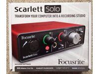 Focusrite Scarlett Solo USB Soundcard = Brand New in box