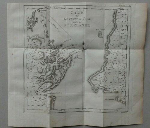New Zealand map Capt Cook. de