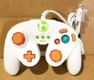 YOSHI FIGHT PAD Nintendo Wii U Wired Controller PDP 085-006 GameCube