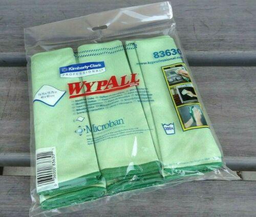 Kimberly-Clark WypAll Microfiber Cloths Microban 15 3/4 x 15 3/4 Green 6/Pack