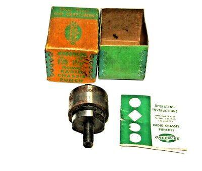Greenlee 1 532 No.730 Round Radio Chassis Punch