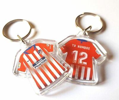 Llavero personalizado de camiseta Atlético de Madrid