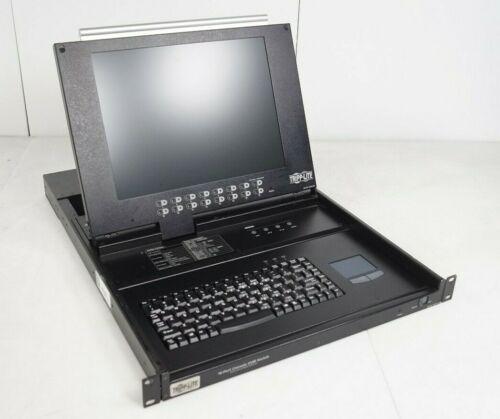 """Tripp-Lite B020-016 16-Port 17"""" 1280 x 1024 LCD 1U KVM Switch Rack Console"""