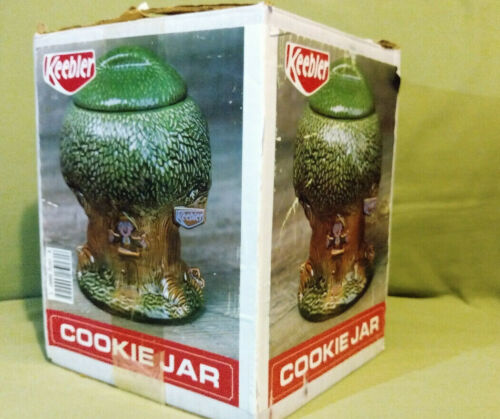 vintage 1981 Keebler Elf Tree House Ernie The Elf Cookie Jar rare original box