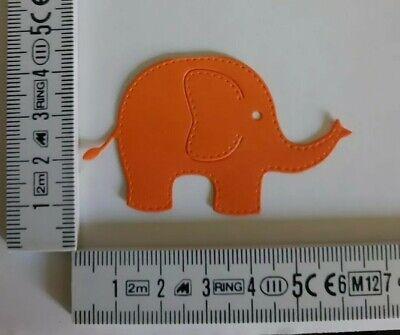 Elefanten 6 Stück Stanzteile Kartenaufleger Farben nach Absprache