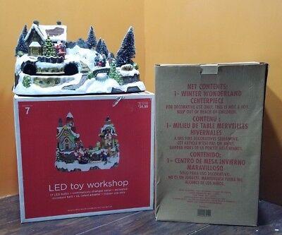 VIDEO Avon Winter Wonderland Fiber Optic Santa Toy Workshop Christmas Village - Fiber Optic Toy