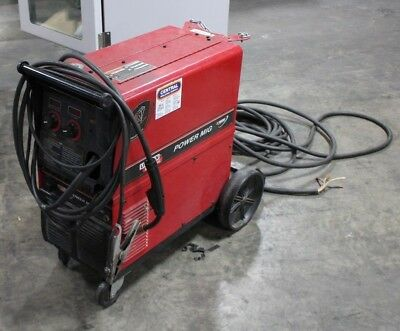 Working Lincoln Power Mig 255c Welder