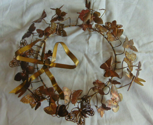 Petite Choses Brass Wreath Butterfly Dragonfly Bumblebee