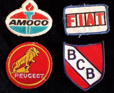 Peugeot Fiat Amoco Embroidered Patches