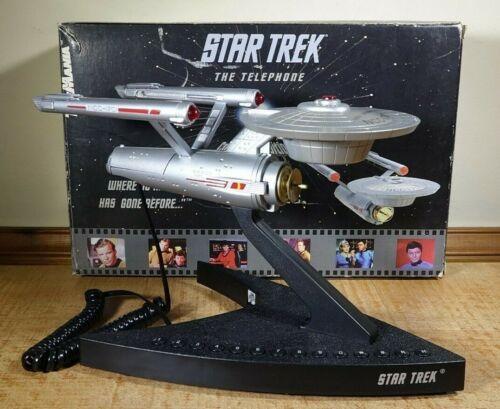 Vintage 1993 Star Trek Enterprise NC-1701 Phone TeleMania Paramount - Works!